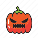 halloween, lamp, pumpkin, scary icon