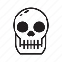 halloween, human, scary, skull icon