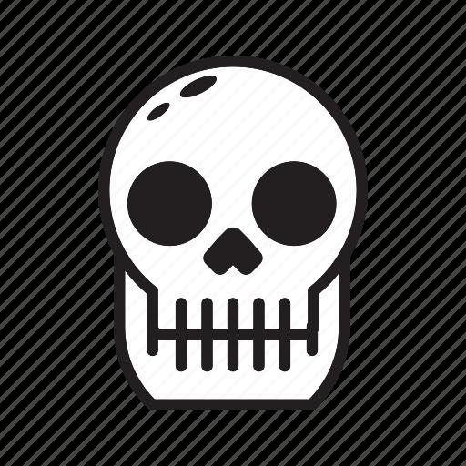 halloween, human, scary, skull icon