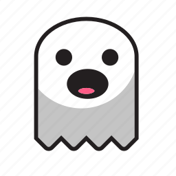 ghost, halloween, night, scream icon
