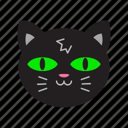 animal, cat, halloween, witch icon