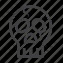 event, halloween, horror, october, oldskull, skull, trickortreat icon