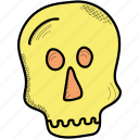 bone, halloween, holiday, skull icon