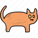 animal, cat, halloween, mouth, pet icon