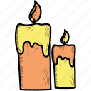 candle, halloween, holiday icon