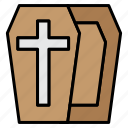 coffin, death, ghost, halloween, rip icon