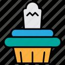 cake, cupcake, dessert, halloween, sweet icon
