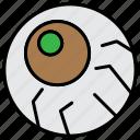 ball, eye, eye ball, halloween, scary icon