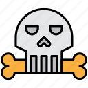 ghost, halloween, scary, skeleton, skull, spooky icon
