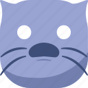 cat, emoji, emoticon, smiley, surprised, wondering icon