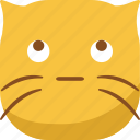 cat, emoji, emoticon, looking, smiley, sneak icon