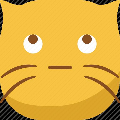 cat, emoji, emoticon, looking, smiley, sneak icon