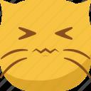 cat, emoji, emoticon, gross, sad, smiley icon
