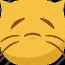 cat, emoji, emoticon, sad, smiley icon
