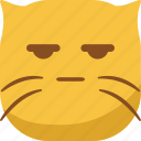 cat, emoji, emoticon, envy, smiley, surprised, wondering icon