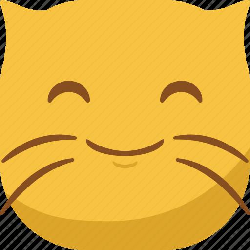 cat, emoji, emoticon, happy, smile, smiley icon