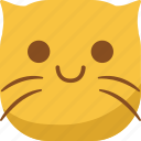 cat, emoji, emoticon, happy, smile, smiley icon
