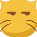 cat, emoji, emoticon, envy, smiley, smirk icon