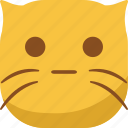 cat, emoji, emoticon, faceless, smiley, surprised, wonder icon