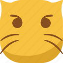 cat, cute, emoji, emoticon, faceless, smiley icon