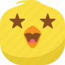 chick, chicken, emoji, favorite, laugh, smiley, stars icon