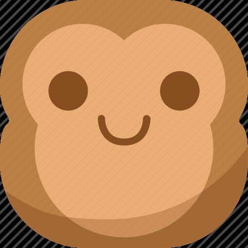 chipms, emoji, emoticon, happy, monkey, smile, smiley icon