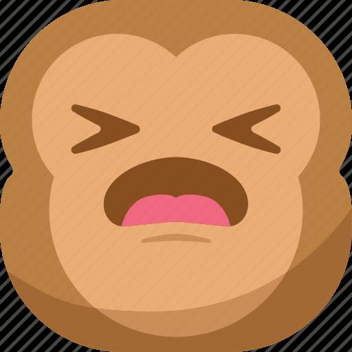 chipms, emoji, emoticon, envy, monkey, sad, smiley icon