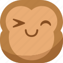 chipms, emoji, emoticon, happy, monkey, smile, smiley icon