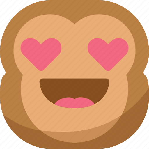 chipms, emoji, emoticon, love, lovely, monkey, smiley icon