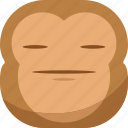chipms, emoji, emoticon, envy, faceless, monkey, smiley icon