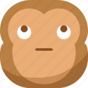 chipms, emoji, emoticon, looking, monkey, smiley, sneak icon