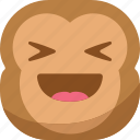chipms, emoji, emoticon, happy, laugh, monkey, smiley icon