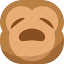 chipms, emoji, emoticon, envy, monkey, sad, smiley icon