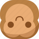 chipms, emoji, emoticon, flipdown, monkey, smile, smiley icon