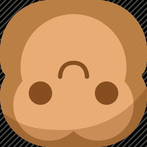 chipms, emoji, emoticon, flipdown, monkey, smile, smiley icon