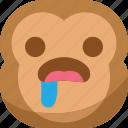 chipms, emoji, emoticon, envy, hungry, monkey, smiley icon