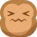 chipms, emoji, emoticon, gross, monkey, sick, smiley icon
