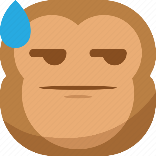 chipms, drop, emoji, emoticon, envy, monkey, smiley icon