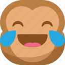 chipms, drop, emoji, emoticon, laugh, monkey, smiley icon