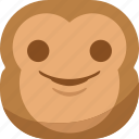 chipms, emoji, emoticon, monkey, smile, smiley, smirk icon