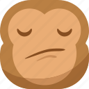 chipms, confuse, emoji, emoticon, envy, monkey, smiley icon