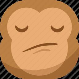 chipms, confuse, emoji, emoticon, envy, monkey, smiley icon