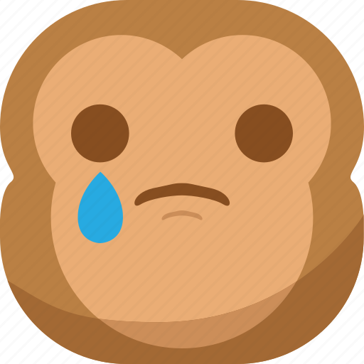 chipms, emoji, emoticon, monkey, sad, smiley, tears icon