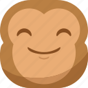 chipms, emoji, emoticon, happy, monkey, smiley icon