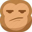 angry, chipms, confusing, emoji, emoticon, monkey, smiley icon