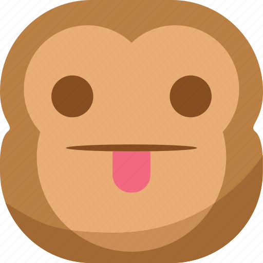 chipms, emoji, emoticon, faceless, monkey, smiley, tongue icon