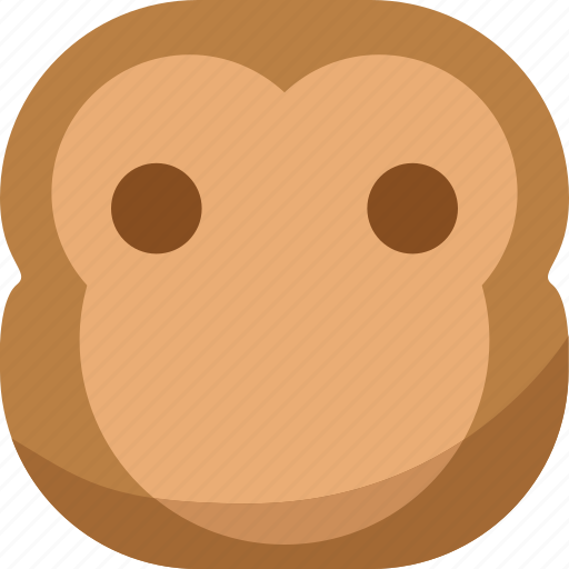 chipms, emoji, emoticon, faceless, monkey, smiley icon