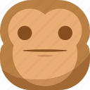 chipms, emoji, emoticon, faceless, monkey, smiley, surprised icon
