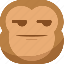 chipms, emoji, emoticon, envy, monkey, smiley, smirk icon