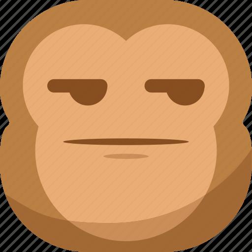 chipms, emoji, emoticon, envy, monkey, smiley, smirk icon
